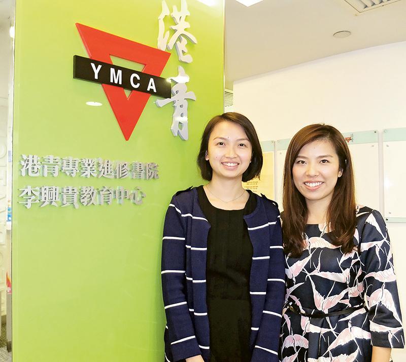 左起:袁慧琼和鍾凱程