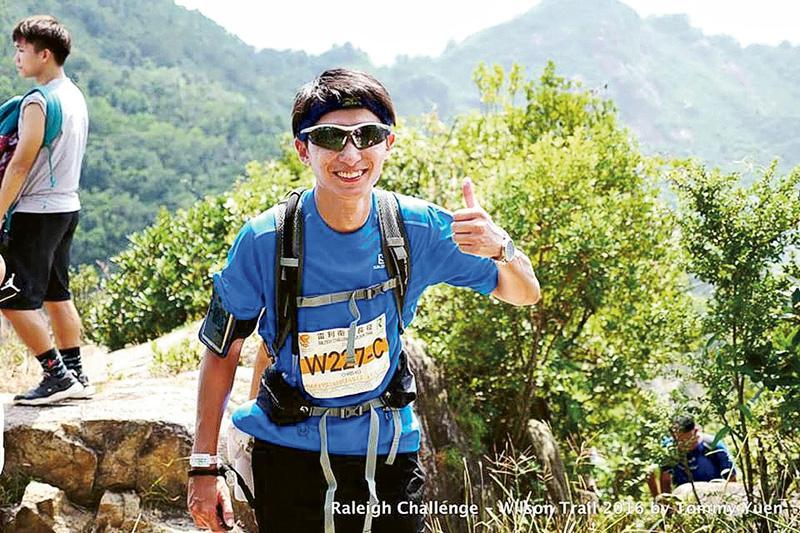 喜愛跑步和行山的Chris,2016年與朋友一同參加雷利衛徑長征(Raleigh Challenge),再次成功挑戰自己。