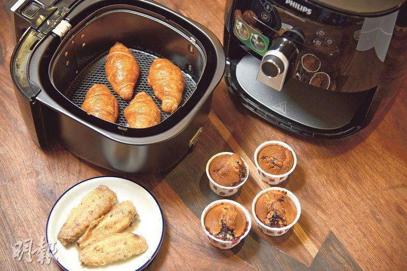 氣炸鍋測試——集煎、炒、煮、炸等多項功能於一身的氣炸鍋,只要按一個按鈕即可煮好一道菜,絕對是不少入廚新手的恩物。(圖:黃志東)