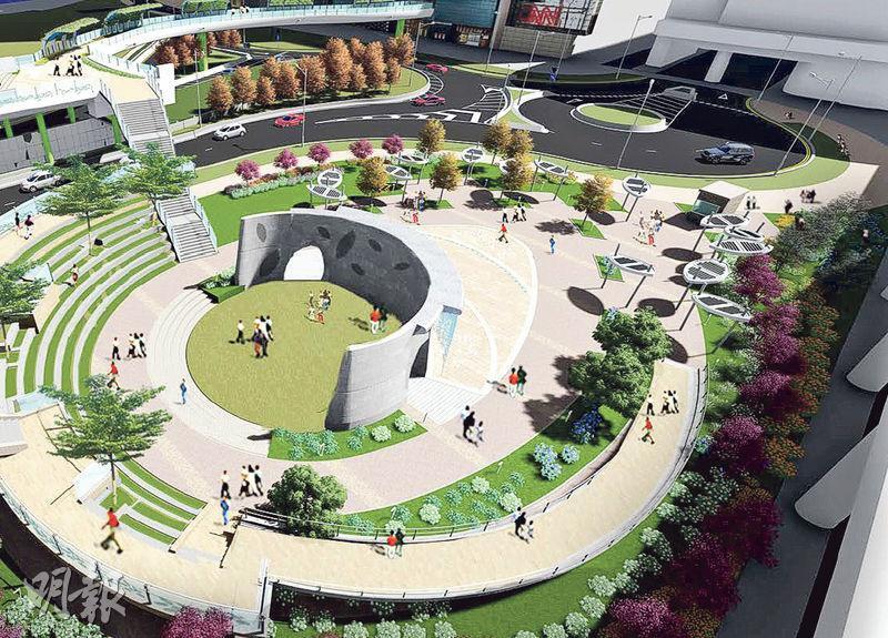 啟德承豐道地面會設有一個露天劇場,可供市民舉辦公共活動。