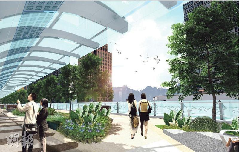 政府亦會在承豐道建造隔音屏障,以減低交通噪音,而隔音屏障將與空中園景平台結合。