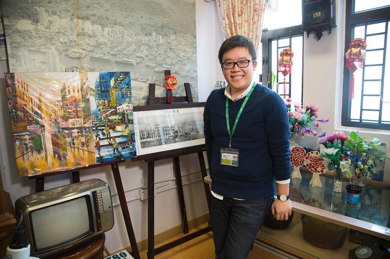 「第三屆安老服務傑出員工選舉(專業組別)」傑出員工得獎人之一的社工譚宇傑