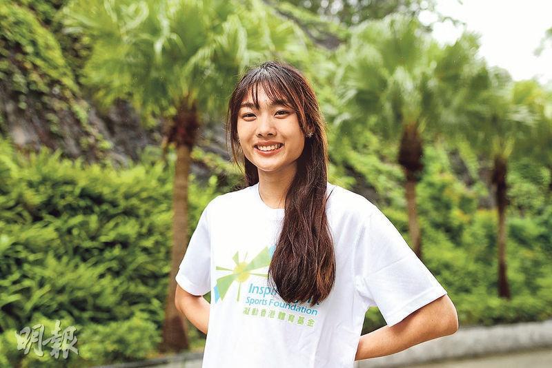 身兼運動員和學生,楊文蔚認為,對兩個角色都要有責任感,所以她從不輕易缺席練習,也不會因訓練而荒廢學業。(圖:曾憲宗)