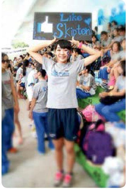 楊文蔚自幼運動天分過人,試過跑步、排球、跳高,統統都有佳績。(相片由受訪者提供)