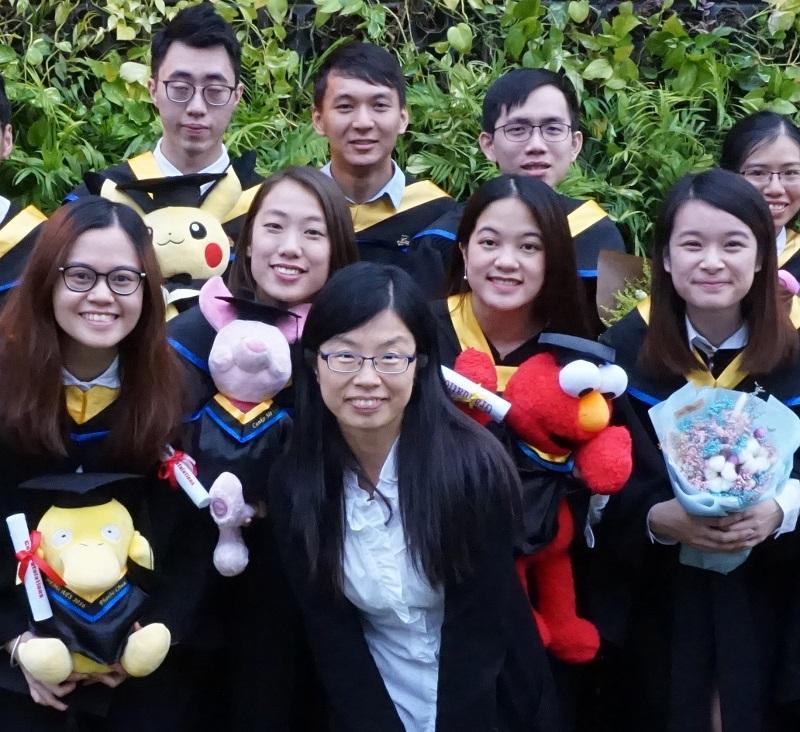 香港浸會大學化學系副教授李紅榮博士 (圖中)