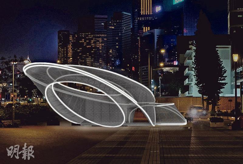 「印象∞香港」展覽星期二開始喺中環愛丁堡廣場3號展城館舉行。圖為喺「樂.遊」香港展區展出嘅未來建築物電腦構想圖。(政府新聞處圖片)