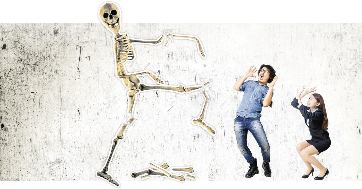 男女通「殺」——若受減肥、疾病、藥物等影響,年輕男女骨骼質量未能達至「巔峰」,就有可能令骨質疏鬆提早出現。(圖:EzumeImages、kimberrywood、RyanKing999@iStockphoto)