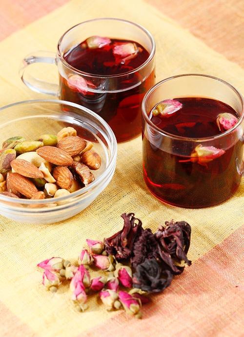 (圖一)洛神花玫瑰花茶