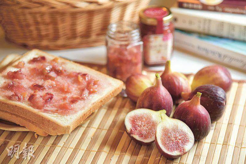 即採即製——由Jacqueline親身採摘並即日製作的無花果醬,清甜美味,塗在麵包、多士上更添滋味。(圖:黃志東)