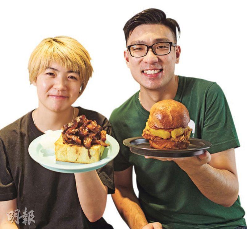好友x拍檔——店主Judy(左)及阿豐(右)是多年好友,以前在餐廳工作時相識,後來因不想再做打工仔,決定開餐廳,賣自己喜愛的食物。 (圖:馮凱鍵)