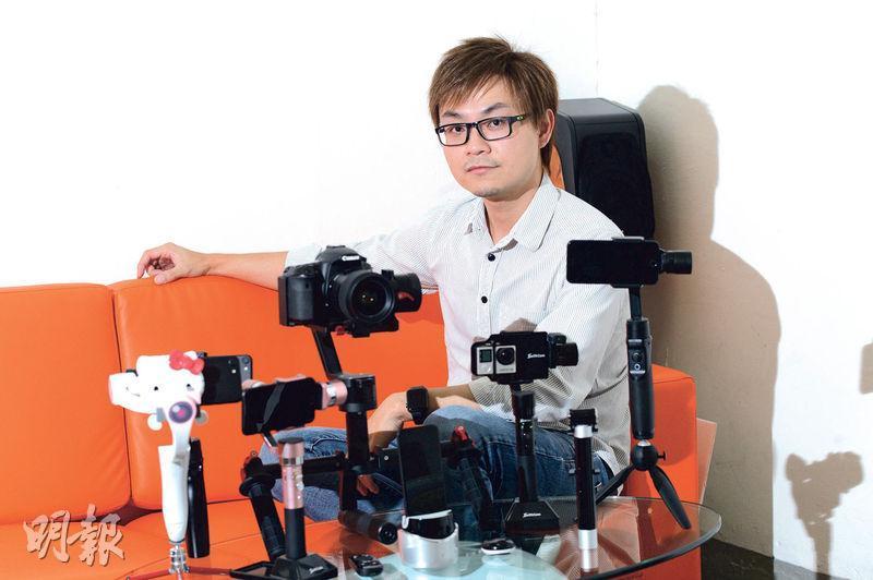 點碩科技集團創辦人蔡樺灃表示,公司近月不只推出了第二代的電動手提雲台,還藉着技術授權開拓收入。