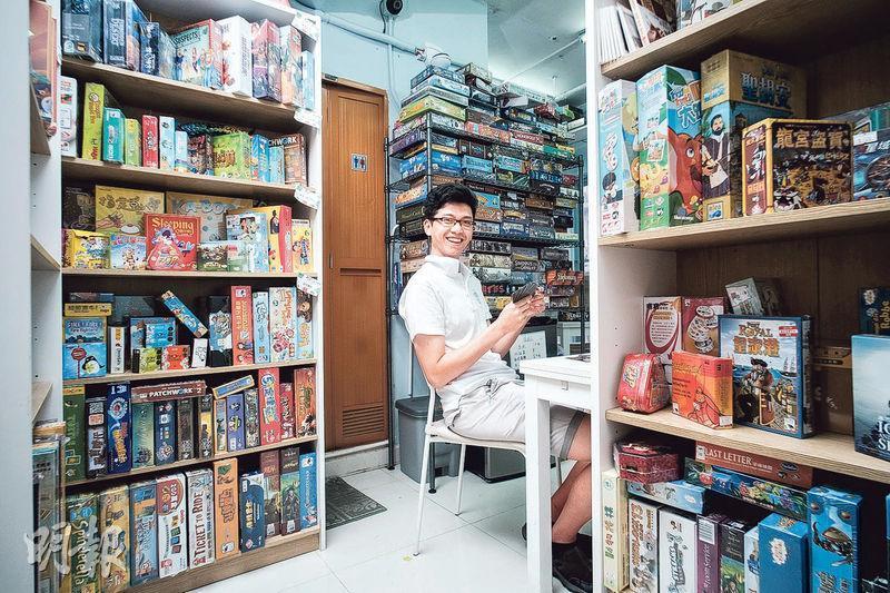 推廣益智遊戲——Thomas是一名貪玩社工,創立「桌樂無限」,正是要推廣Board Game這種益智遊戲,減少青少年沉溺上網的行為。(圖︰蘇智鑫