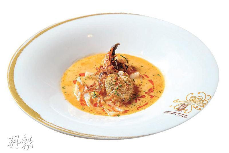 招牌菜——金池玉枕是鄧家濠的招牌作。($210,萬豪中菜廳)(圖:黃志東)
