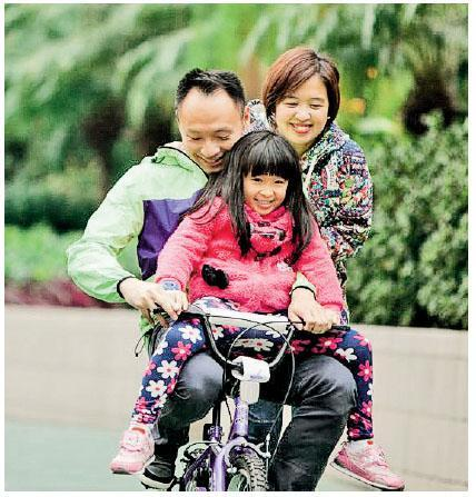 鍾曉彤很重視家庭生活的質素,喜歡在假日與丈夫及女兒進行各種戶外活動。(相片由受訪者提供)