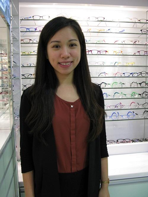 理大眼科視光學院「看見愛」流動護眼計劃項目助理、眼科視光師陳羽欣