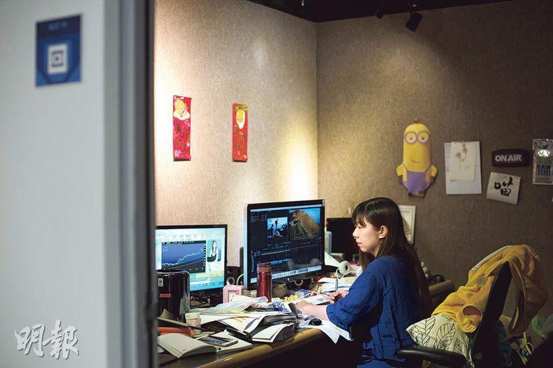 一腳踢——劇目監製及導演何國敏身兼剪片工作,指其部門自主度高。(圖:鄧宗弘)