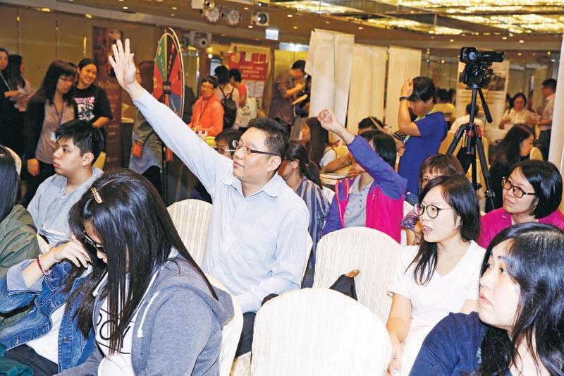 每場講座均設問答遊戲,參加者反應踴躍。
