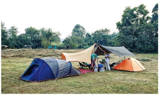 第一次到上水馬草壟露營,促成David和友人Victor成立露營組織「Camperism」。(相片由品牌提供)