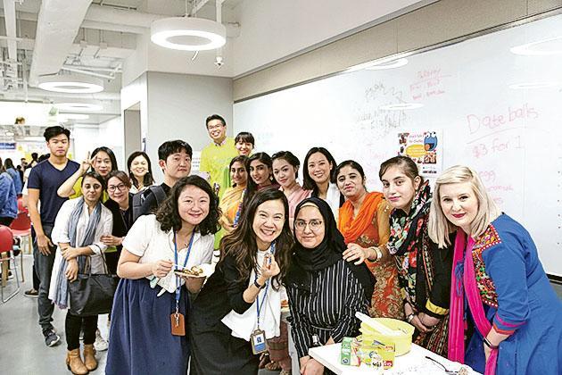 YCCC多元化的校園,是不少非華語學生的選擇。