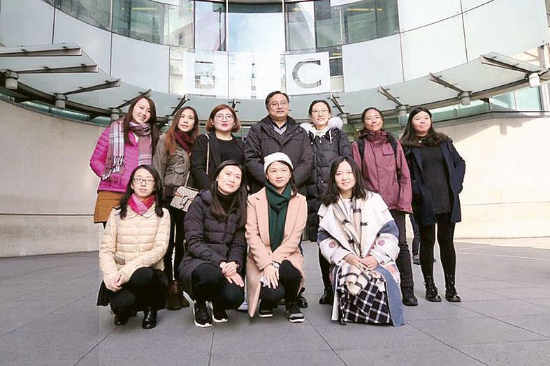 課程的海外考察團曾帶同學到倫敦的BBC參觀。