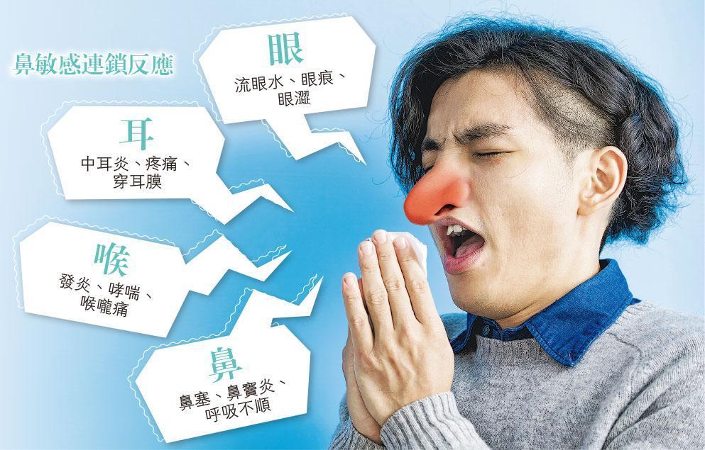 影響生活——別小看鼻敏感的殺傷力,可以牽連眼、耳及喉嚨,影響生活。(圖:RyanKing999@iStockphoto,設計圖片,相中模特兒與本版提及疾病無關)