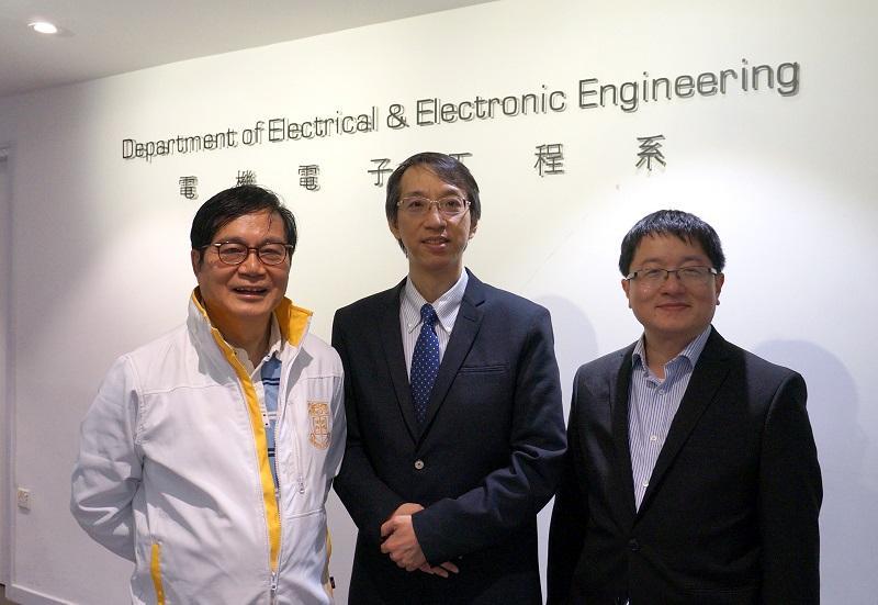 左起:香港大學電機電子工程系首席講師李榮健工程師、「工學碩士 (電機電子工程)」課程總監陳成就教授和「工學碩士(能源工程)」課程總監霍偉棟博士