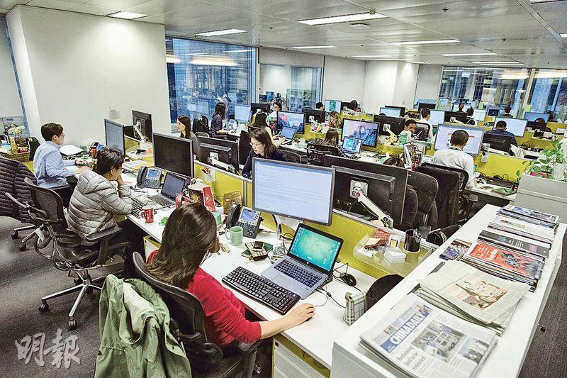 自選座位——公司以區域劃分各部門辦公位置,員工可以選擇「坐定定」工作,亦可以前往其他辦公空間。(圖:馮凱鍵)
