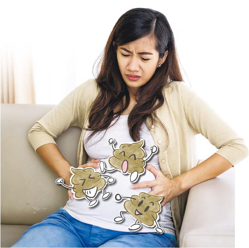 宿便BB——便秘引起肚痛及肚脹等不適,更會影響外觀。(圖:ferlistockphoto@iStpckphoto)