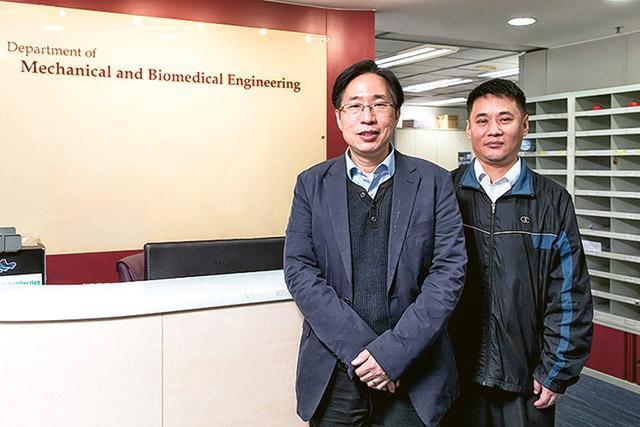 (左起) 陸炳林博士和趙吉運副教授