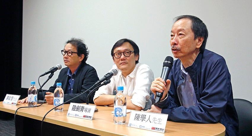 香港浸會大學「創意電影製作高級文憑」課程主任陳學人(右)指,該課程會邀請資深電影工作者作講座嘉賓,包括電影「寒戰」導演陸劍青(中),分享個人工作心得及行業現况。