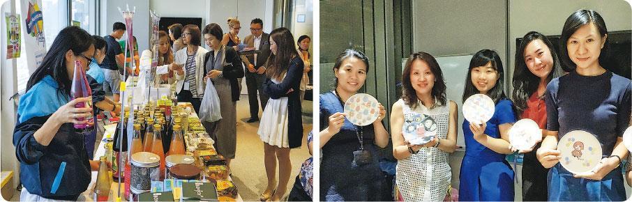 戲有益——Total Loyalty Company為不同企業舉辦活動,員工反應都很正面,當中以辦公室市集(左圖)、陶瓷碟繪畫工作坊(右圖)等活動尤其受歡迎。(圖:受訪者提供)