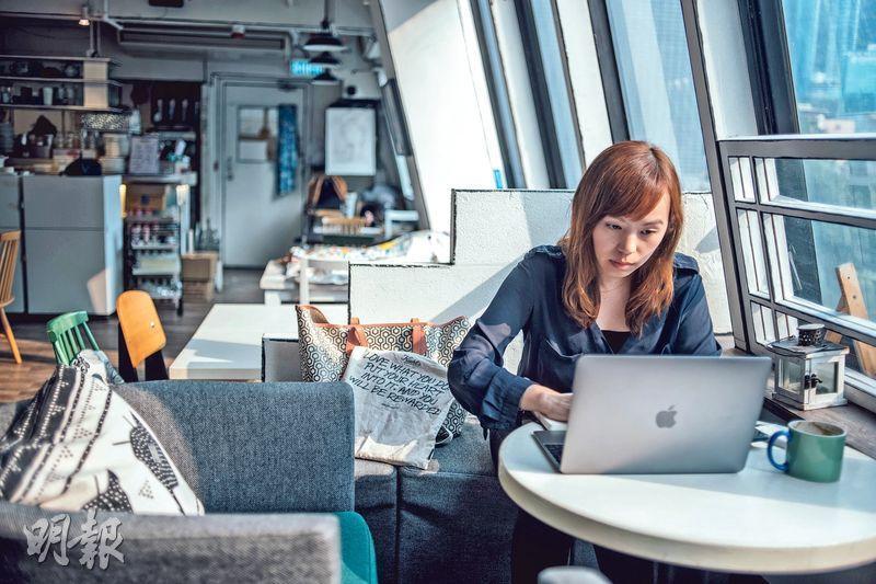 工作效率提高——Joan過了5個月slash生活,家、會所、咖啡室都是工作間。現在接觸多了不同行業客戶,每天都有新事物學習,而且工作效率提高了,3小時已想到有質素的計劃。(圖:馮凱鍵)