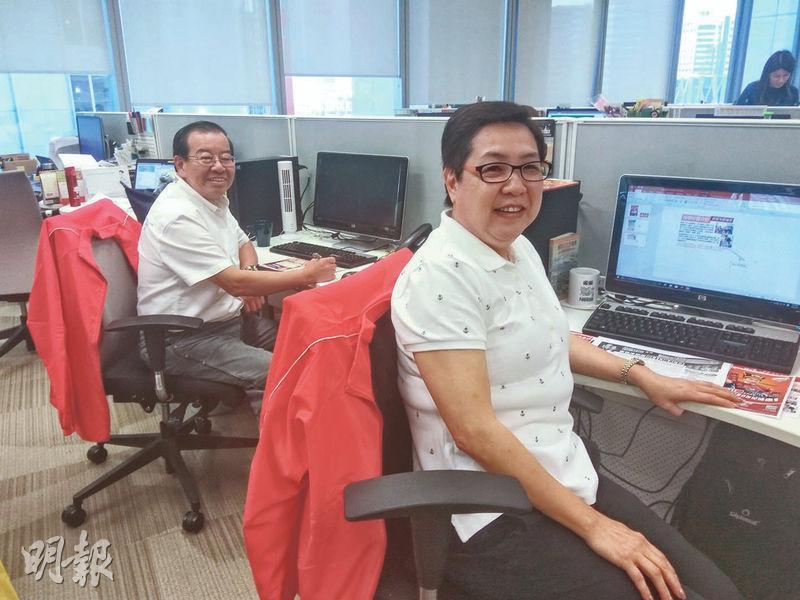 挑戰新工種——Irene(右)和Sky(左)參與實習,試試自己是否能重投職場,更挑戰新工種,尋求突破。(圖:李樂嘉)