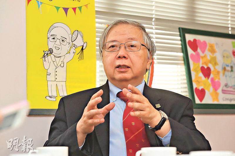 香港大學教務長韋永庚(圖)指出,文憑試考生可以比較不同院校的同類課程,以了解當中不同,這有助作出更適合自己的選擇。(李紹昌攝)