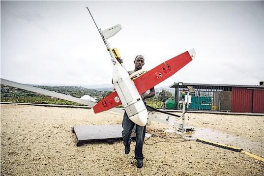 初創企業Zipline的無人機每天在盧旺達21個地區運送醫療物品。(網上圖片)