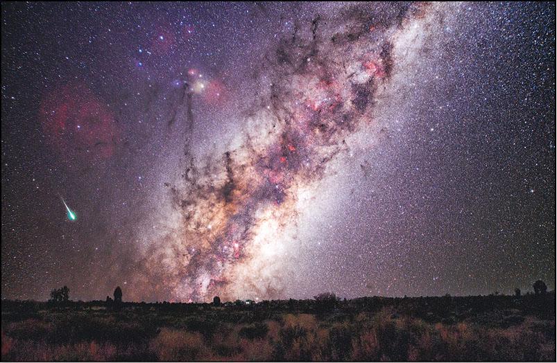 銀河星空﹕夏天是拍攝銀河的黃金季節,威Sir不時上載自己的作品公諸同好。此圖為去年四月在澳洲拍攝的銀河星空。(相片由受訪者提供)