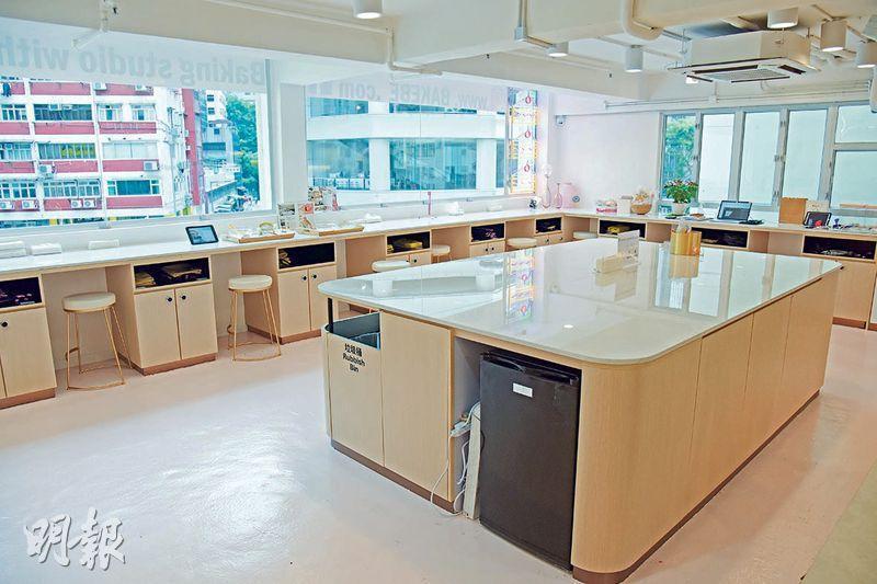 寬敞空間——店內採開放式設計,方便用家自由走動提取食材或使用廚具。(黃志東攝)
