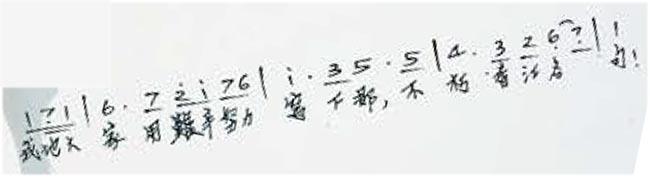 黃霑《獅子山下》手稿(資料圖片)