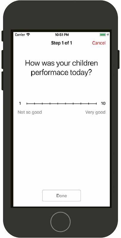 鄧日聰團隊在手機應用程式比賽中贏得季軍的作品,以iOS平台的應用程式,用作評估小朋友的手眼協調能力,並讓他們通過玩遊戲來訓練手眼協調能力。