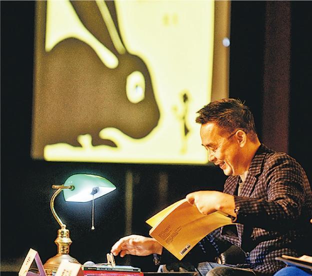 著名台灣繪本作家幾米(圖)昨出席書展講座時,鼓勵有創作想像的年輕人要馬上開始創作,而且持續及專注。(蘇智鑫攝)