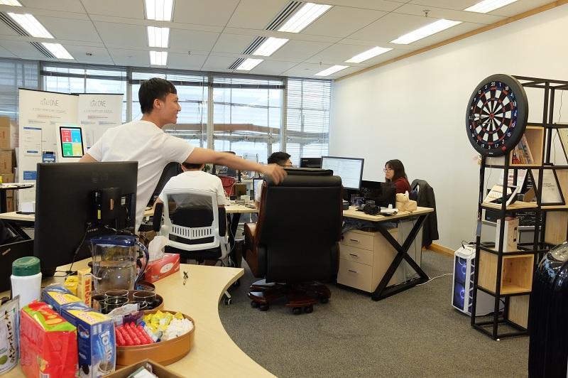不少初創科技公司設不同的娛樂設施給員工使用,如遊戲機、電子標靶等。