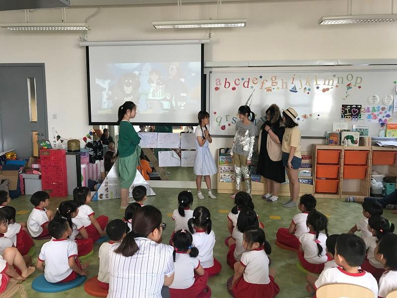 學生從不同的活動中,體驗規劃活動,執行和反思教學的循環。(相片由 LIFE 提供)