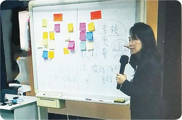 受邀教學——從事HR工作超過二十年,Edith間中也受邀出席講座或教學。(受訪者提供)