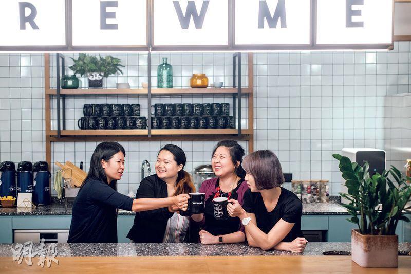同心互勉——去年Karrance(左起)、Yeye、Theresa和Bau組成Lean In Hong Kong籌委團隊,合力建立活躍的香港職場女性互助圈,推動女性互助文化。(馮凱鍵攝)