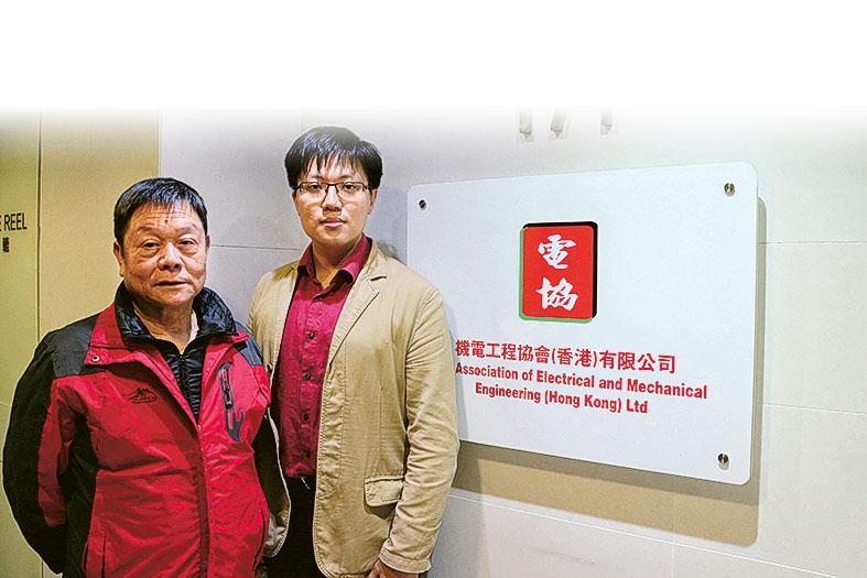 機電工程協會行政主管鄧文昇(右) 和導師吳泯葉(左)