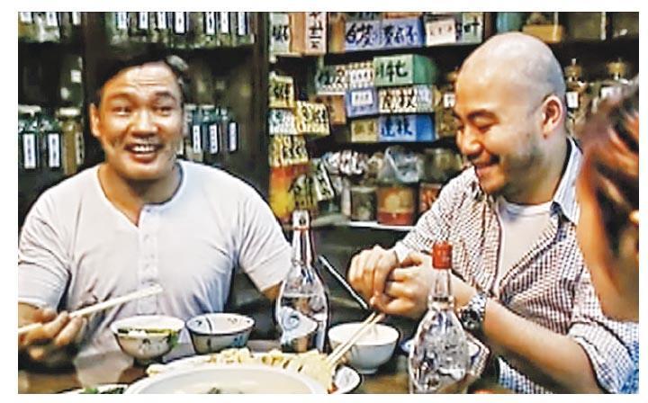 古天樂、楊千嬅、羅莽(左)及黃偉文(右)等主演的電影《乾柴烈火》,便是在大和堂取景。(網上圖片)