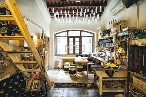 升級再造——這是Kevin在藍屋的工作室,也可說是升級再造的示範。(受訪者提供)