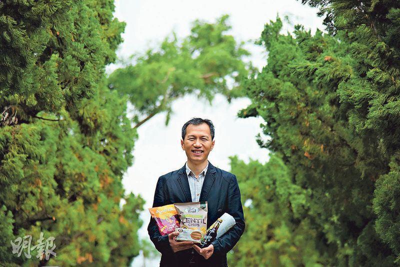 創業者——Michael:「品味有機」創辦人之一,Michael發現注重健康的人也愛吃零食。(黃志東攝)