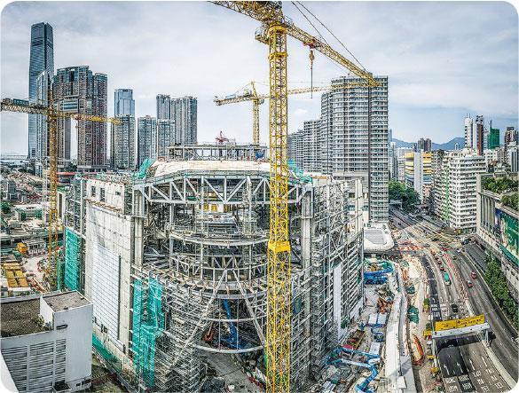 建築過程——謝至德獲邀拍攝戲曲中心工程建築過程。(西九文化區管理局提供,謝至德攝)