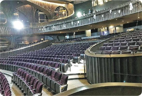 樓座設計——茹國烈早前在講座首次公開大劇院工程進度,可見樓座設計。(戲曲中心提供)